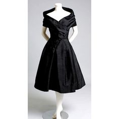 Vintage 1950s Christian Dior black cocktail dress - Polyvore