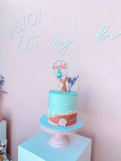 Under the Sea Mermaid Cake from a Turquoise and Pink Mermaid Birthday Party on Kara's Party Ideas | KarasPartyIdeas.com (13) Mermaid Party Decorations, Mermaid Parties, Balloon Decorations, Birthday Bash, Birthday Parties, Mermaid Kids, Bubble Balloons, Mermaid Cakes, Pink Turquoise