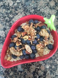 Mix and match the milk/fruit/nut butter combo to make it your own! Tasty, Yummy Food, Nut Butter, Overnight Oats, Acai Bowl, Beans, Make It Yourself, Fruit, Vegetables