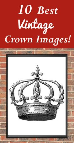 Best Vintage Crown Images Free From The Graphics Fairy! So many beautiful Crown Graphics… Diy And Crafts, Arts And Crafts, Paper Crafts, Crown Images, Diy Locker, Easy Homemade Gifts, Diy Blanket Ladder, Graphics Fairy, Free Graphics