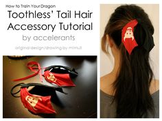Toothless {from How to Train Your Dragon #httyd } Tail Hair Accessory | pics & full tutorial by Accelerants.tumblr