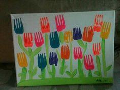 Pintar cn tenedores