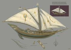 High Elf Ship by ~JonathanKirtz on deviantART