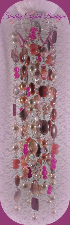 Pretty in Pink Sun Catcher by SCrystalBoutique on Etsy, $79.00