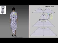 Вариант выкройки платья Alberta Ferretti - YouTube Drape Dress Pattern, Corset Pattern, Japanese Sewing Patterns, 3d Video, Paper Stars, Draped Dress, Sewing Techniques, Pattern Making, Fashion Pictures