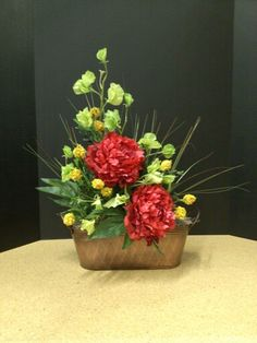 Winter Centerpiece For The Table Basket From Crate And