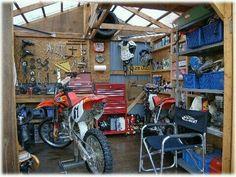 Pinterest the world s catalog of ideas - American motorbike garage ...