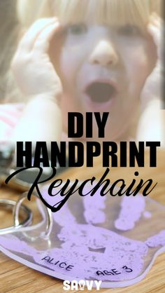 DIY Handprint Keychain Great for mothers day gifts