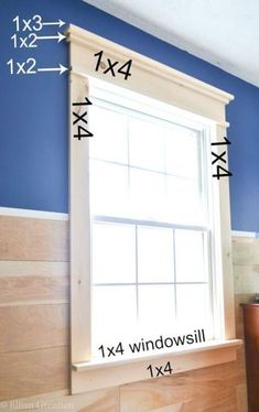 How to Build DIY Fancy Window Trim the Lazy Girl WayMake your builder grade windows pop with this budget savvy window trim project! Create a craftsman look with this super simple tutorial.How to Install Window Trim Interior Window Trim, Home Diy, Farmhouse Trim, Home Remodeling, New Homes, House, Home Decor, Home Renovation, Diy Window Trim