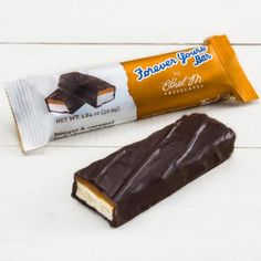 Ethel M - The Original 1936 Forever Yours Bar, Dark Chocolate, Nougat & Caramel Best Chocolate Gifts, Chocolate Treats, Forever Yours, Candy Making, Candy Recipes, Food Gifts, Original Recipe, Food Design, Caramel