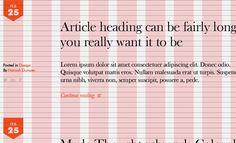 Custom Grid Design for Structured Website Mockups