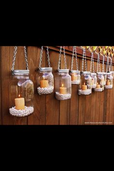 DIY Hanging Mason Jar Luminary Lantern Lids - Set of 8 can use small battery operated candles. also use for flowers, hanging or table tops. Mason Jar Lanterns, Hanging Mason Jars, Diy Hanging, Mason Jar Lamp, Candle Jars, Candle Holders, Hanging Candles, Candle Lanterns, Ideas Lanterns