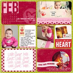 more red, more pink, colors and things that would reflect Valentine's Day #projectlife