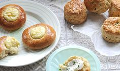 Ruby bakes...  with cream cheese: to make a tender crumb and crisp crust in bread, and in feather-light scones that melt in the mouth