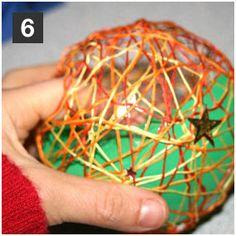 Bastelanleitung für Kinder: Christbaumkugel - Schritt 6
