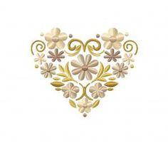 Rustic Spring Flower Heart 2.5″ 3″ 3.5″ 4″ 4.5″ 5″ & 5.5″