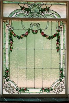 This beautiful #stainedglass bath window was made by one of our talented clients.