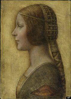 late 1400s headpiece.  possible new da vinci discovery