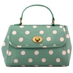 Button Spot Mini Turnlock Handbag