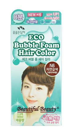 SOMANG ECO BUBBLE FOAM HAIR COLOR (NATURAL BROWN N6). PROCESSING TIME - 20 MINUTES (MN7, N7, N8, N10, O7 & R6) / 8 MINUTES (N1, N3, N5 & N6). ECO BUBBLE FOAM HAIRCOLOR CONTAINS 7 NATURAL INGRIDIENTS - WITCH HAZEL, ROOIBOS, CAMOMILE & LAVENDER PREVENT THE SCALP LESION / OLIVE OIL, JOJOBA OIL & CAMELLIA OIL CALM & EASE SCALPSTIMULATING / RESULT MAY VARY / SOMANG ECO BUBBLE IS NOT A 100% NATURAL HAIRCOLOR PRODUCT AND 7 NATURAL INGREDIENTS ARE ONLY PARTS OF A WHOLE PRODUCT / PLEASE READ THE...
