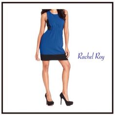 ✨Last chance! ✨✨Rachel Roy dress✨ Black & blue , great combination! The back of a dress is a real unique and elegant design that makes this dress to be a real standout piece in every evening occasion!  The triangle shape detail! It is so unique!!! Reserve it now! Available from November!!! Could be yours for the holidays! True Blue! Most wanted!  Rachel Roy Dresses