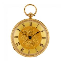 An 18ct gold key wind open face pocket watch with keys