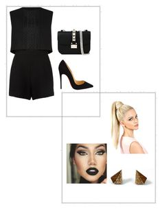 """TK"" by thaiskelly ❤ liked on Polyvore featuring Wolf & Moon, Maje, Valentino and Christian Louboutin"