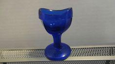 Eye Wash Cup Vintage Cobalt Blue Marked No. 6
