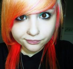 nose piercings on both sides Want like this, but hers are crooked