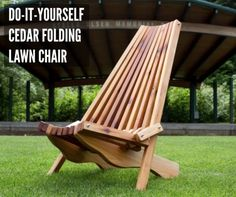 A cedar folding lawn chair is an item you can make at home if you enjoy working with wood and want a custom item to use in your yard, on a deck, or patio.