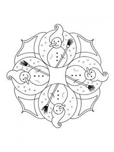 Mandalas de Natal para imprimir e colorir