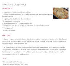 Farmer's Casserole