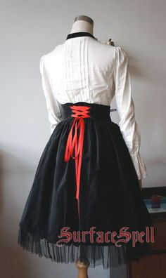8d6ef5344a Surface Spell -Judgment Day- Embroidery Gothic Lolita High Waist Skirt