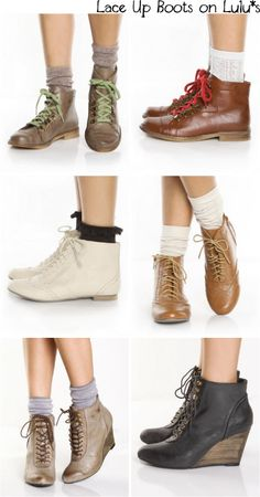Lace up Boots...obviously... BRB DYING I WANT ALL THESE