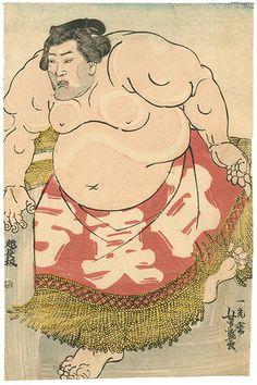 芳盛「相撲絵 白真弓」。古書の街・東京神田神保町にて、浮世絵から新版画、創作版画、現代版画までの版画作品の販売中心に、肉筆画(油彩・水彩)、書、彫刻、陶芸等の美術品及び美術書を幅広く取り扱っております。美術品・古書の買取も随時承ります。