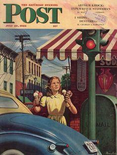 The Saturday Evening Post - 1944 - Portada Stevan Dohanos