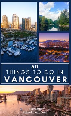 50 Incredible Things To Do In Vancouver. Vancouver has plenty of amazing restaurants, bars and shops. If you need time out in nature, between drinks (yes, Vancouver is one of the top party cities in Canada), there's lots to do outdoors too. #thingstodo #city #vancouver #travel #britishcolumbia #northamerica #canada Cool Places To Visit, Places To Travel, Travel Destinations, America And Canada, North America, Vancouver Travel, Canadian Travel, Travel Guides, Travel Tips