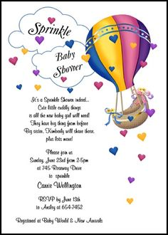Rattle welcome home baby shower party invitation easter find largest selection of welcome home baby shower invite with hearts hot air balloon online save with our 10 free welcome home baby shower invite with stopboris Images