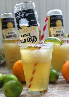 Coronarita Recipe   Ingredients   5 Cups Ice    1 Cup Tequila    ½ Cup Grand Marnier    5 Limes, more for garnish    1 Orange    1 Cup  s...