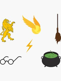 """""""Harry Potter set pack"""" Sticker by Michaela-S 