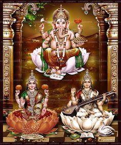 3d Laxmi Ganesh Saraswati Wallpaper - (41+ images) Hanuman Images, Durga Images, Lakshmi Images, Ganesh Images, Hanuman Photos, Ganesha Drawing, Lord Ganesha Paintings, Lord Shiva Painting, Ganesha Art