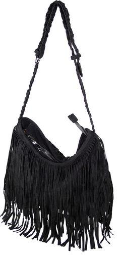 c10bace9827f new college bag  ) Black Fringe Bag