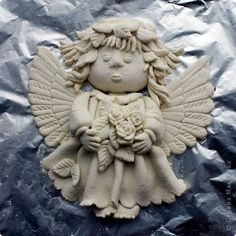 Salt Dough Projects, Clay Projects, Diy Clay, Clay Crafts, Creative Food Art, Handmade Angels, Paperclay, Air Dry Clay, Polymer Clay Art