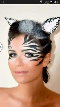 Zebra Make-up Karneval