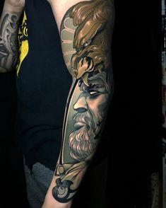 """jerome soriano on Instagram: """"just wanted to give a big thanks to the amazing @brettrosepiler at heritage tattoo! you absolutely nailed it! the great hercules!…"""" Hercules Tattoo, Sleeve Tattoos, Thankful, Portrait, Big, Amazing, Instagram, Ideas, Tattoo Sleeves"""