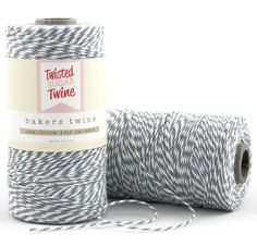 Gray - 240 Yards of Baker's Twine - 720 Feet - gray/white. $12.00, via Etsy.    Could work for the escort cards i'm making