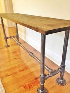 8 Award-Winning Industrial Table Designs For Your Home Want To See More? Visit Us For More Industrial Table Ideas Vintage Industrial Furniture, Industrial Style, Wood Furniture, Industrial Pipe, Industrial Table Legs, Plumbing Pipe Furniture, Industrial Lighting, Vintage Lighting, Furniture Design