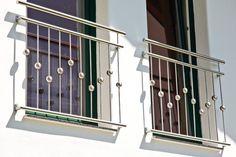 """Französischer Balkon """"Canberra"""" Balcony Grill Design, Balcony Railing Design, Window Grill Design, Door Design, Exterior Design, House Design, Steel Grill Design, Steel Railing Design, Staircase Railing Design"""