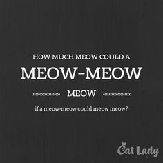 How much meow could a meow-meow meow if a meow-meow could meow meow?