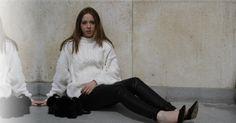 New on thepurplegold: Oversized knit sweater & leather pants 🔳 Leather Pants, Normcore, Knitting, Sweaters, Style, Fashion, Moda, Tricot, La Mode